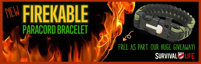 Free Paracord Bracelet - FireKable by Survival Life