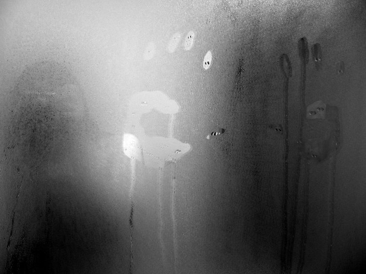 Fogged Mirror With Hand Print   Scary Stories To Tell In The Dark